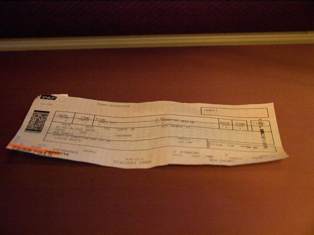 TGVチケット