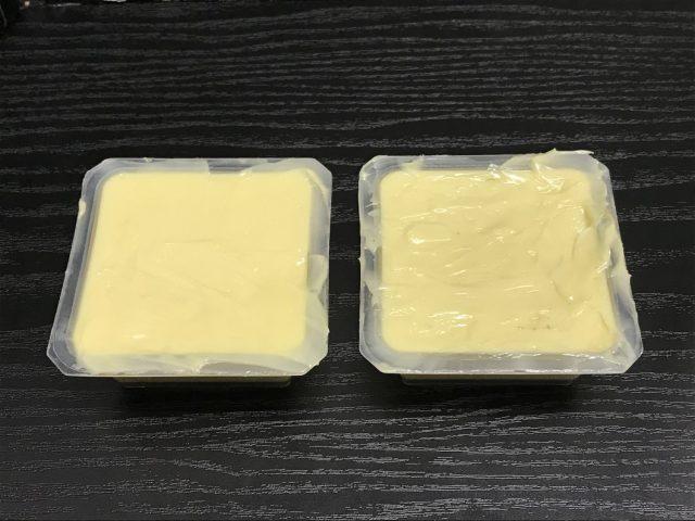卵豆腐の型に石鹸を入れる