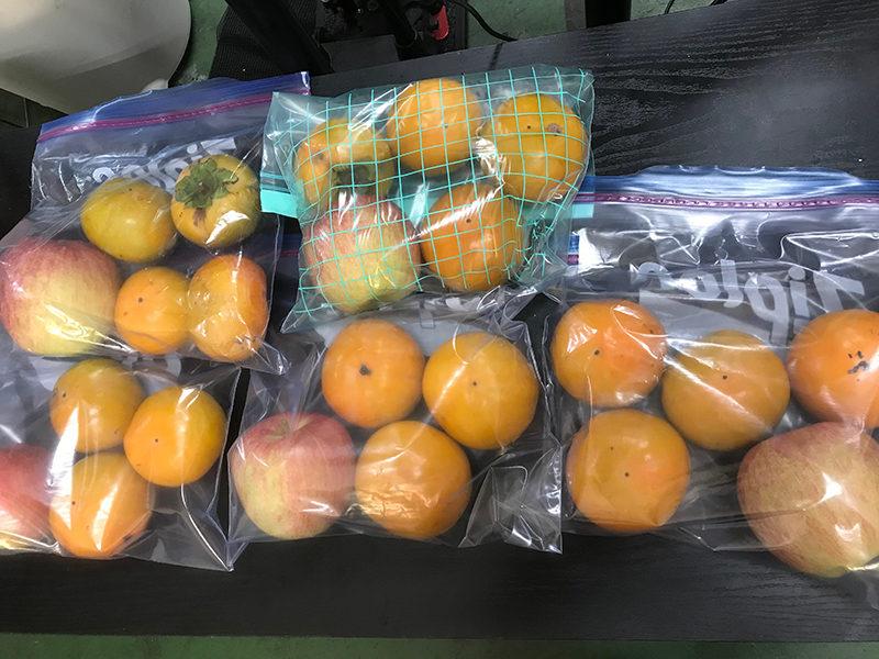 柿にエチレンガス