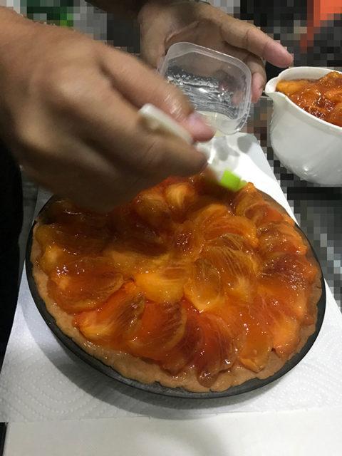 柿のレアチーズタルト